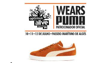 Puma calça o Optimus Alive'14