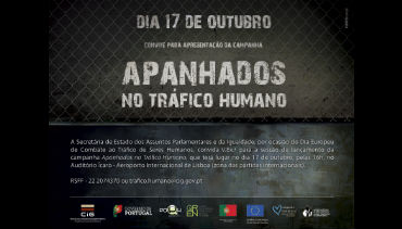 Alerta contra o tráfico humano