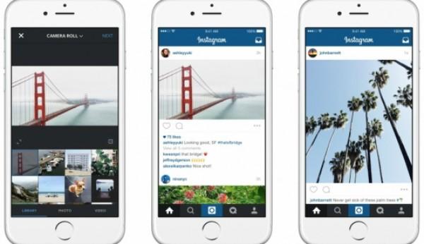 Fotos no Instagram já não têm de ser quadradas