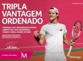 Tenista João Sousa a triplicar com o Millennium bcp