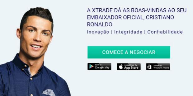Ronaldo dá a cara por empresa de acções online