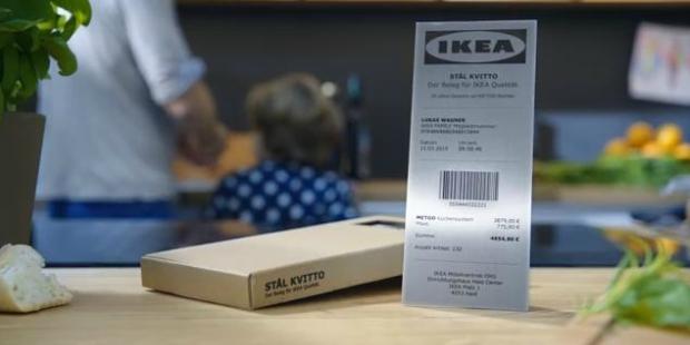 Ikea cria recibo de aço