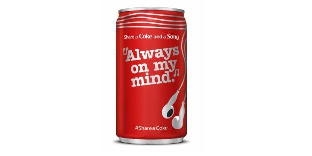 Latas de Coca-Cola vão dar música