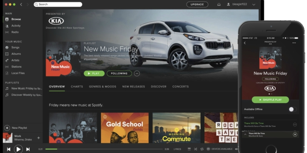 Marcas vão poder patrocinar playlists do Spotify