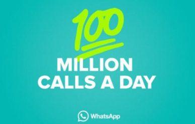 100 milhões de chamadas diárias via WhatsApp