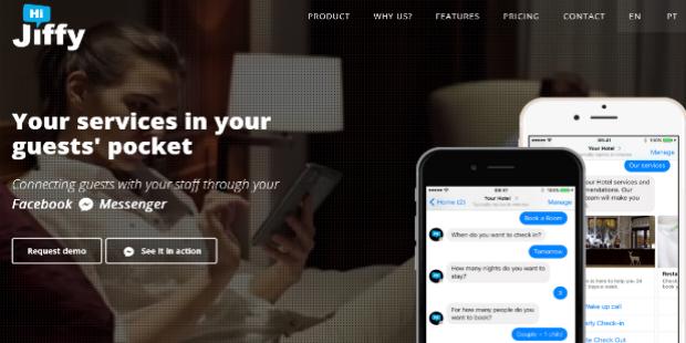 Marque serviços em hotéis através do Messenger