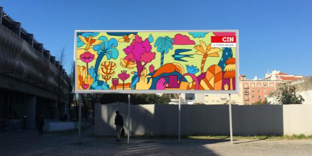 Cin convidou lisboetas para pintar mural