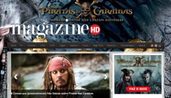 """""""Piratas das Caraíbas"""" invade Magazine HD"""