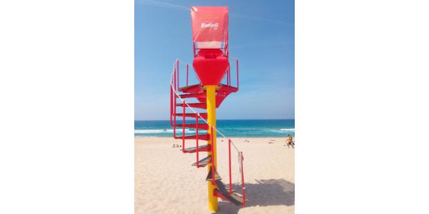 Buondi cria torre de vigia para nadadores salvadores