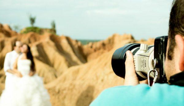 600 euros é o custo médio de um fotógrafo de casamentos