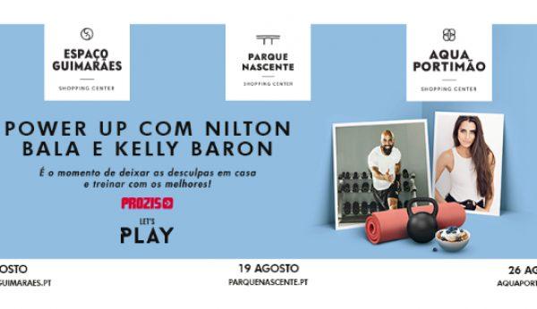 Nilton Bala e Kelly Baron levam fitness aos centros comerciais