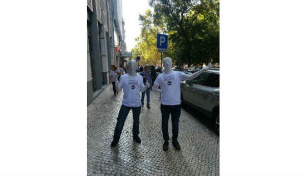 Manequins da Timberland à solta em Lisboa