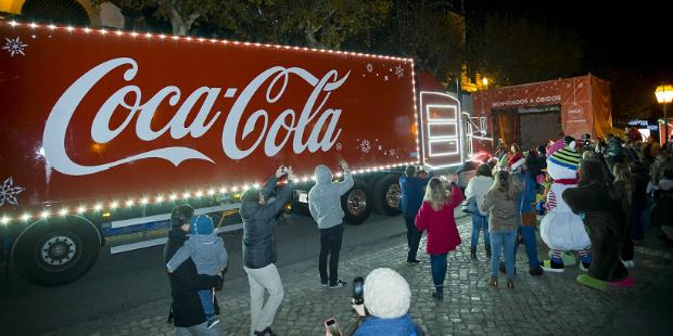 Camião da Coca-Cola pela primeira vez em Portugal