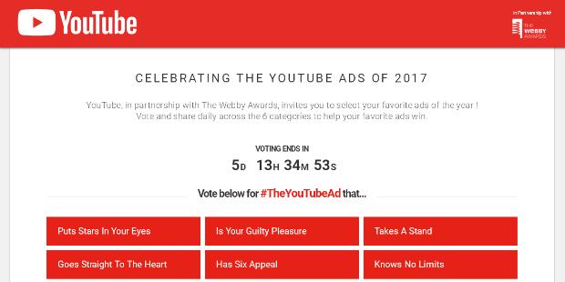 Anúncios do YouTube vão a votos