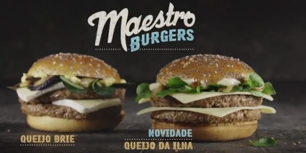 McDonald's junta queijo da Ilha ao hambúrguer Maestro