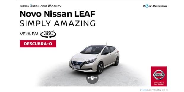 Nissan apresenta novo Leaf em 360º