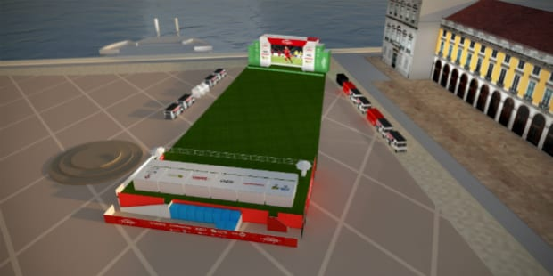 Sagres instala estádio no Terreiro do Paço