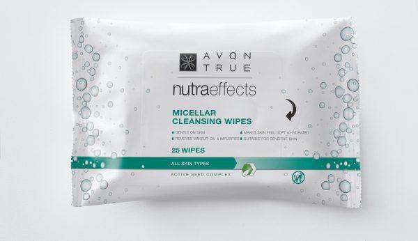 Novas Micellar Cleansing Wipes da AVON True Nutraeffects