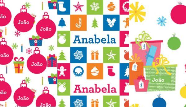 O teu nome nos embrulhos personalizados da Toys''R''Us