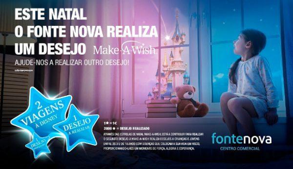 Centro comercial Fonte Nova associa-se à Make-a-Wish