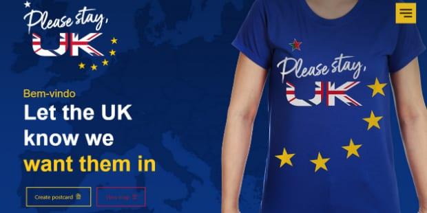 Fuel assina site que pede ao Reino Unido para ficar na UE