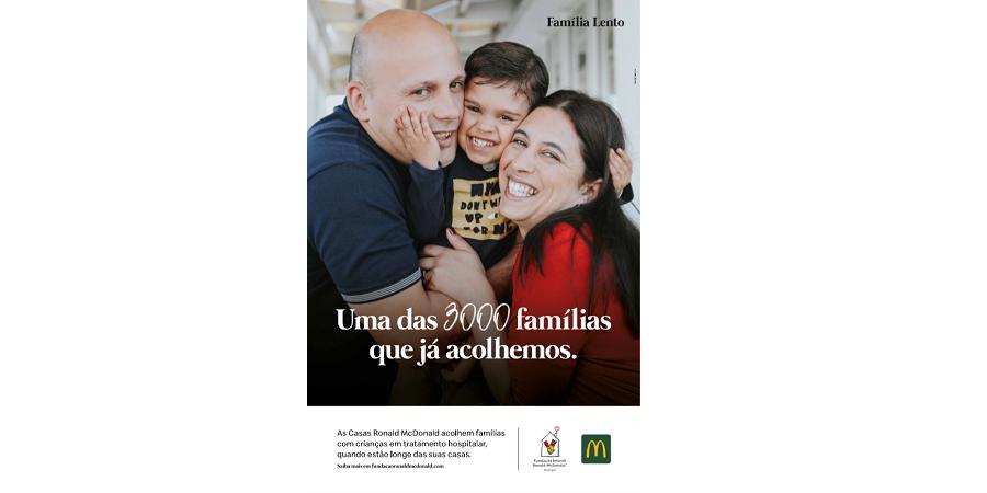 Famílias apoiadas pela fundação da McDonald's dão a cara em campanha