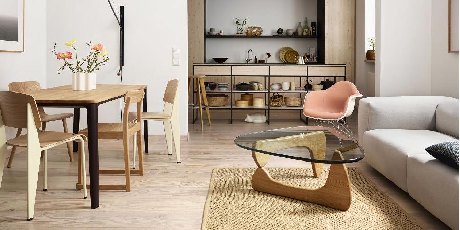 O Apartamento comunica marca de mobiliário Vitra